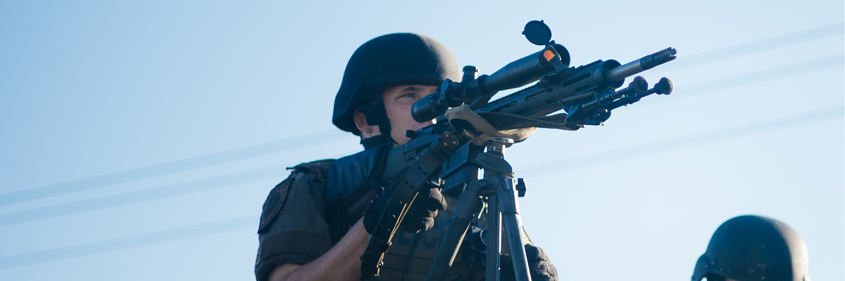 Do your local police have banned military equipment?