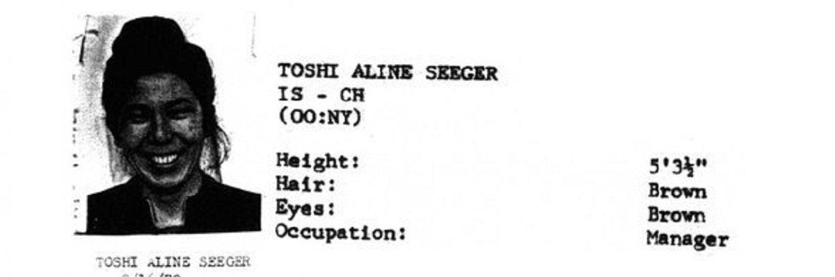 """AKA Mrs. Peter Seeger"" Toshi Seeger's FBI file"