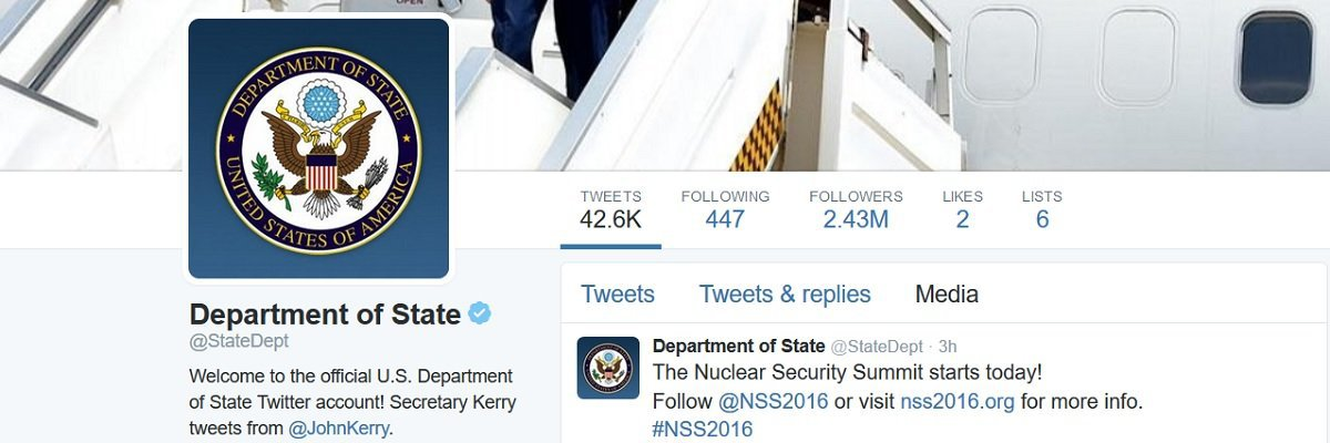 State Department's social media policy seeks to harness twitter