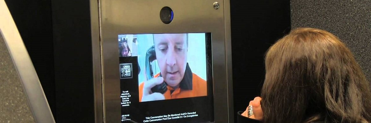 Prison visitations are being replaced by far costlier and unreliable video phone kiosks