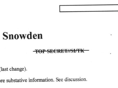 NSA's Intellipedia page on Edward Snowden is under construction
