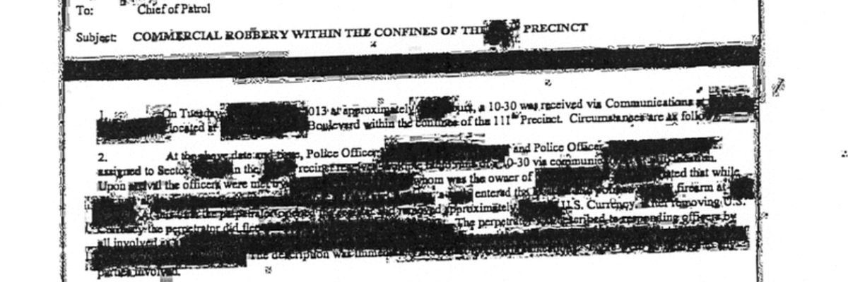 NYPD wanted $1.25 for illegible documents