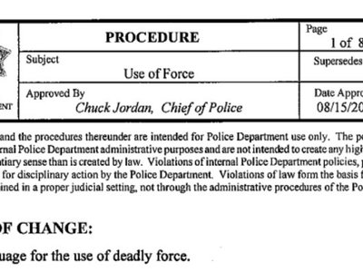 Read Tulsa Police Department's Use of Force policy