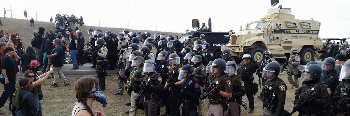 "Preparing for Standing Rock, North Dakota governor requested ""chemical munitions launcher,"" riot squads, and cops with active shooter training"