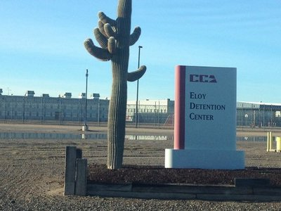 Trump's tough talk on immigration spells huge profit for private prisons