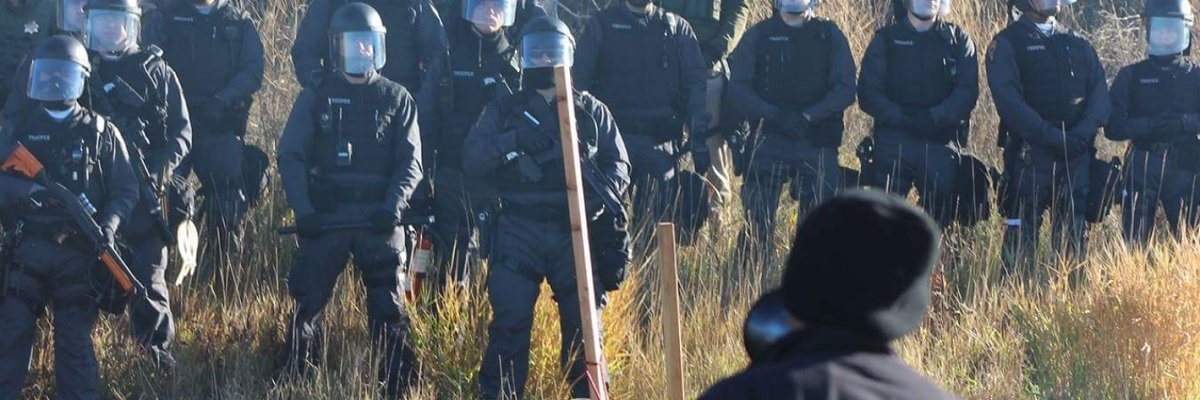 Ohio State Highway Patrol's #NoDAPL photos show a familiar perspective - and confirm a sniper was deployed