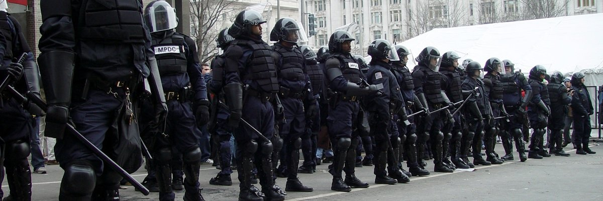 Police departments across the country are spending millions on riot gear
