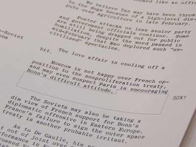 CIA memo highlights the dilemma of declassification