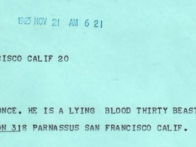 Read Hunter S. Thompson's correspondence with LBJ on their original letterhead