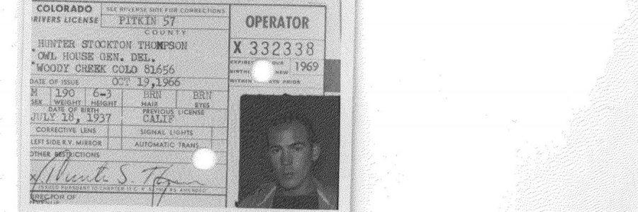 Help MuckRock track down Hunter S. Thompson's full criminal record