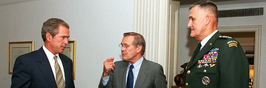 Help analyze Donald Rumsfeld's memos and win MuckRock requests and swag