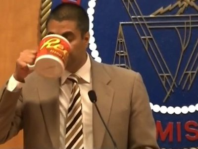 What's with Ajit Pai's Reese's mug? FCC resorts to high fees and invasive questions to avoid telling