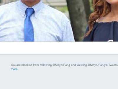 "Cranston, Rhode Island claims mayor's Twitter account ""not associated"" with city"