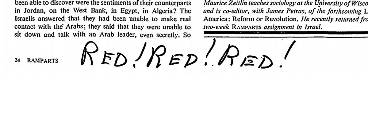 "FBI marginalia in the ""Ramparts"" file reads like an alt-right comments section"