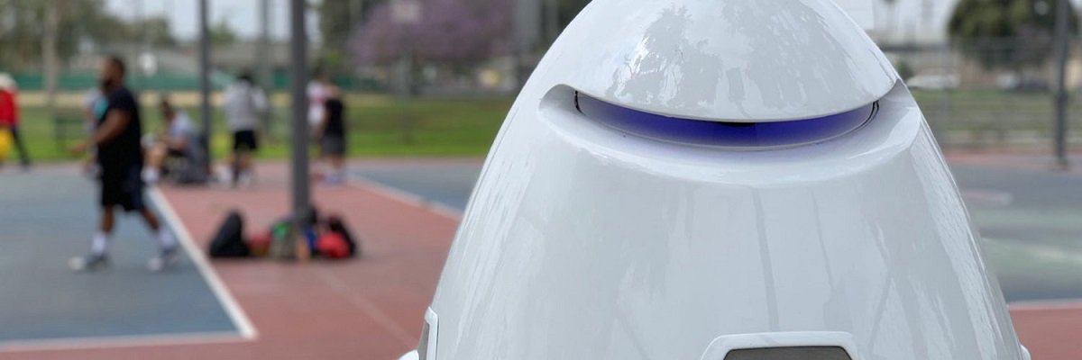 """Huntington Park's new """"RoboCop"""" stores pedestrians' faces, scans license plates, and costs $8,000 a month to run"""