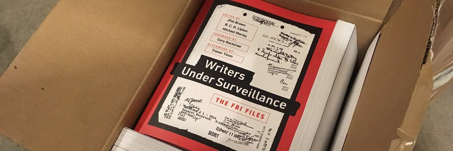"""Writers Under Surveillance"": MuckRock's first book highlights the surveillance of America's authors"