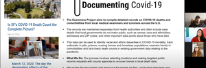 Digging into pandemic data with Documenting COVID-19