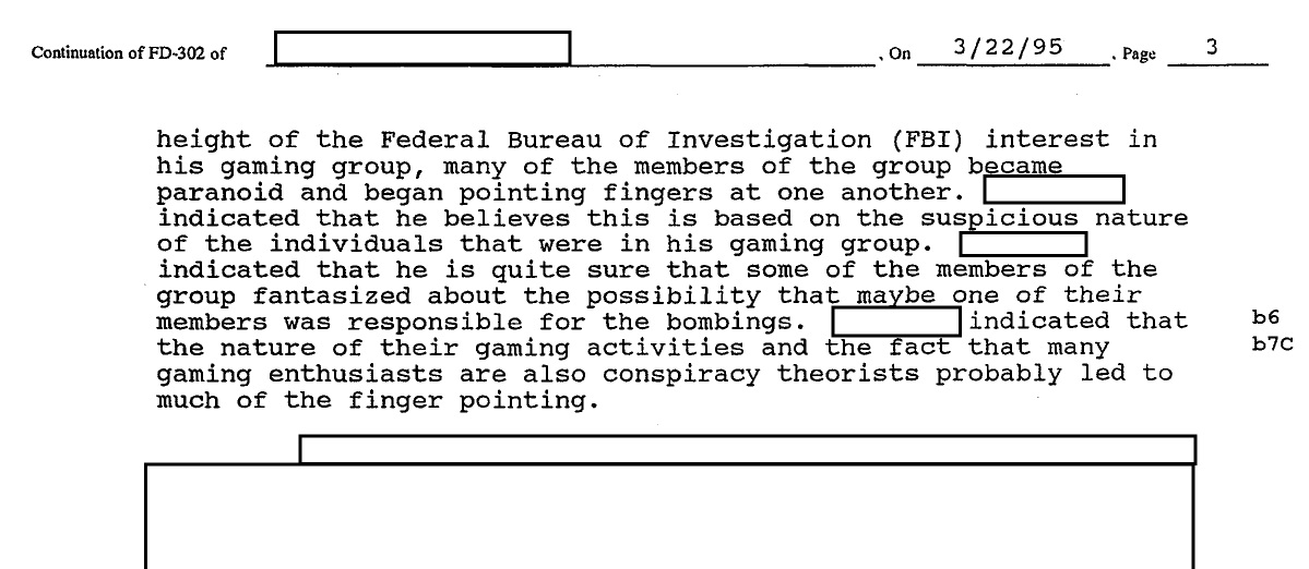 FBI investigated a group of Dungeons and Dragons players as part of