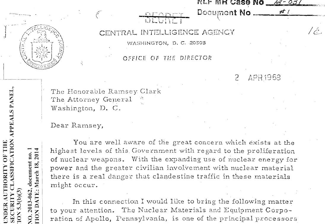 The CIA's six most dangerous FOIA topics • MuckRock