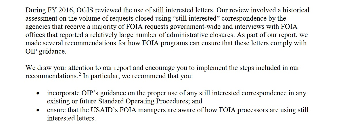 ogis has worked with agencies to improve how they handle this process to be less frustrating with requesters see this example from the state department
