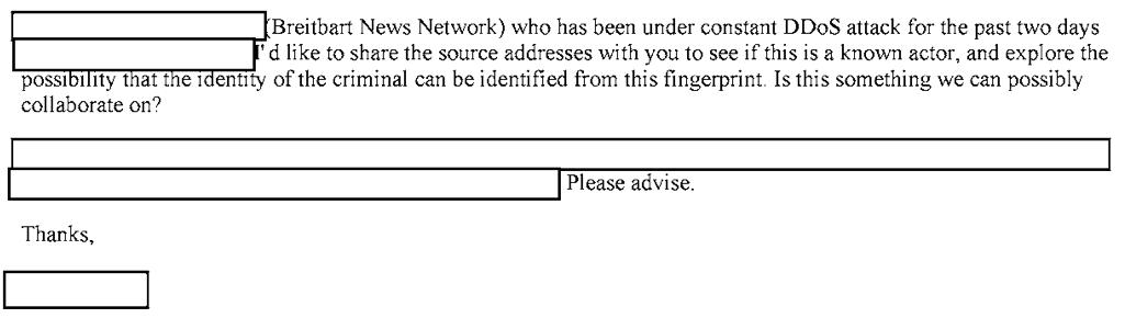 Breitbart News' FBI file details how site accidentally DDoS