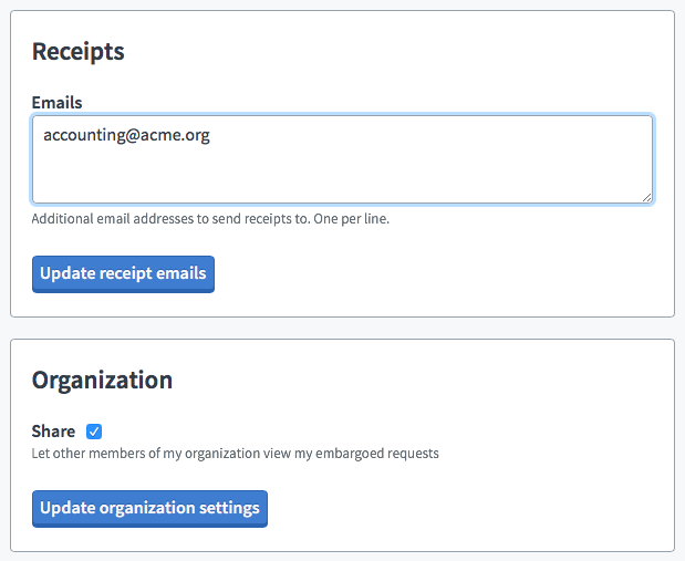 MuckRock organization sharing features