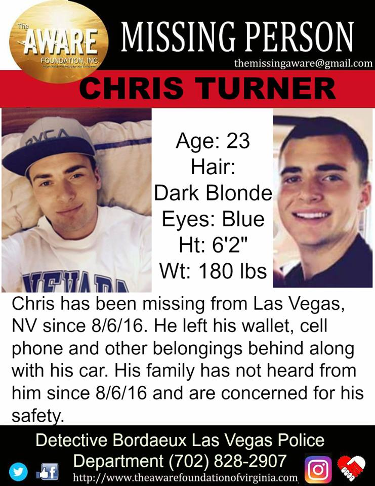 Turneru0027s Mom Says That The Police Didnu0027t Start Taking Turneru0027s  Disappearance Seriously Until Six Or Seven Months After The Missing Person  Report Was First ...  Missing Person Picture