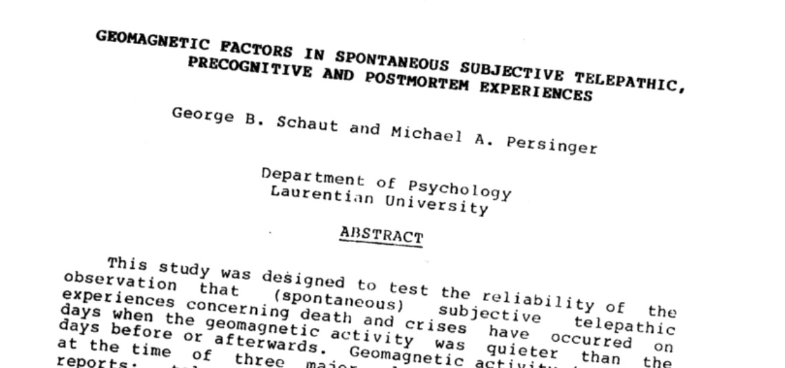 The CIA studied the impact of space storms on psychic powers