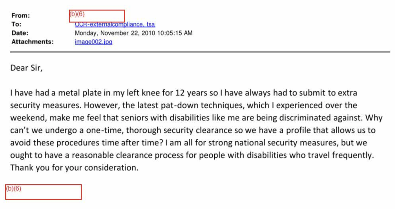 As TSA ramped up pat downs, complaints mounted • MuckRock