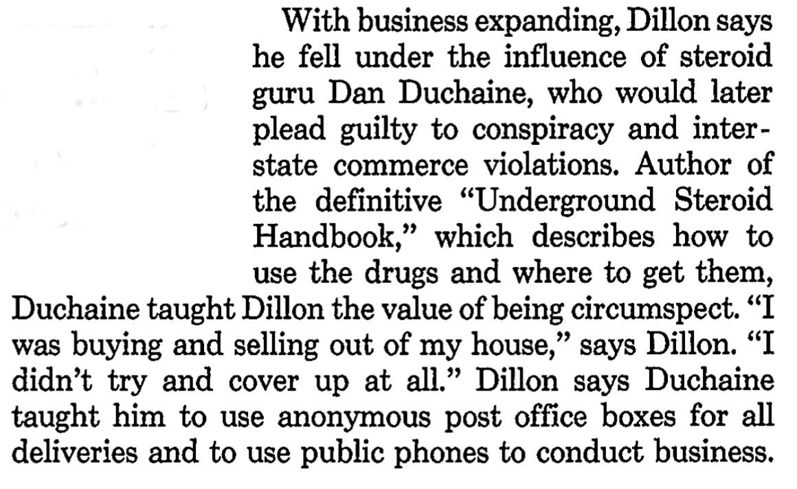 El archivo del FBI sobre el polémico gurú de esteroides Daniel Duchaine Influence