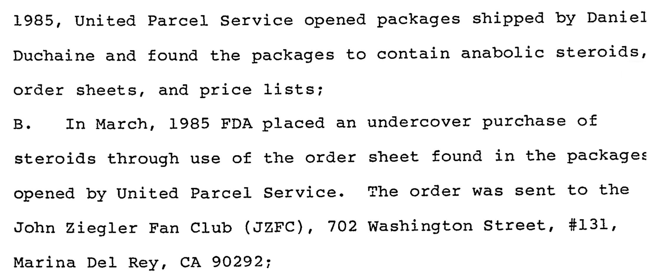El archivo del FBI sobre el polémico gurú de esteroides Daniel Duchaine Jzfc