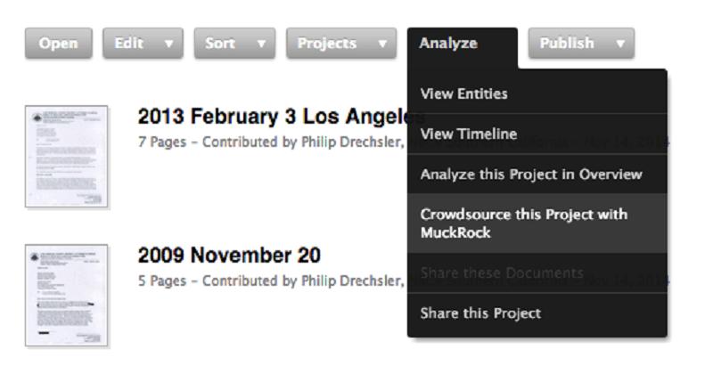 Crowdsource DocumentCloud documents