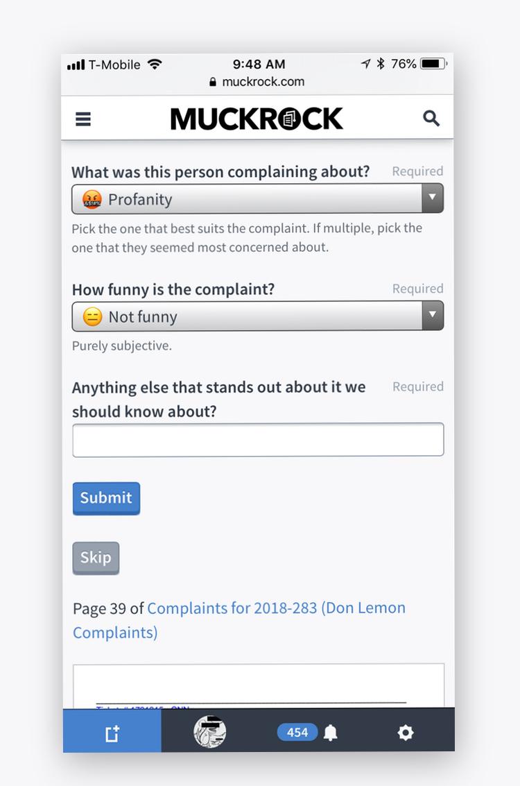 MuckRock Assignment Crowdsourcing tool