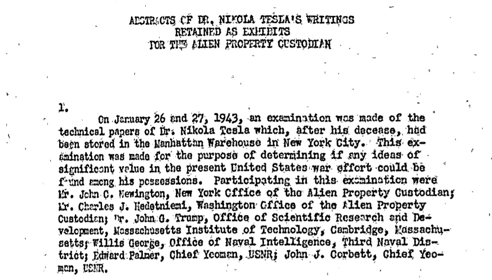 nikola tesla writings