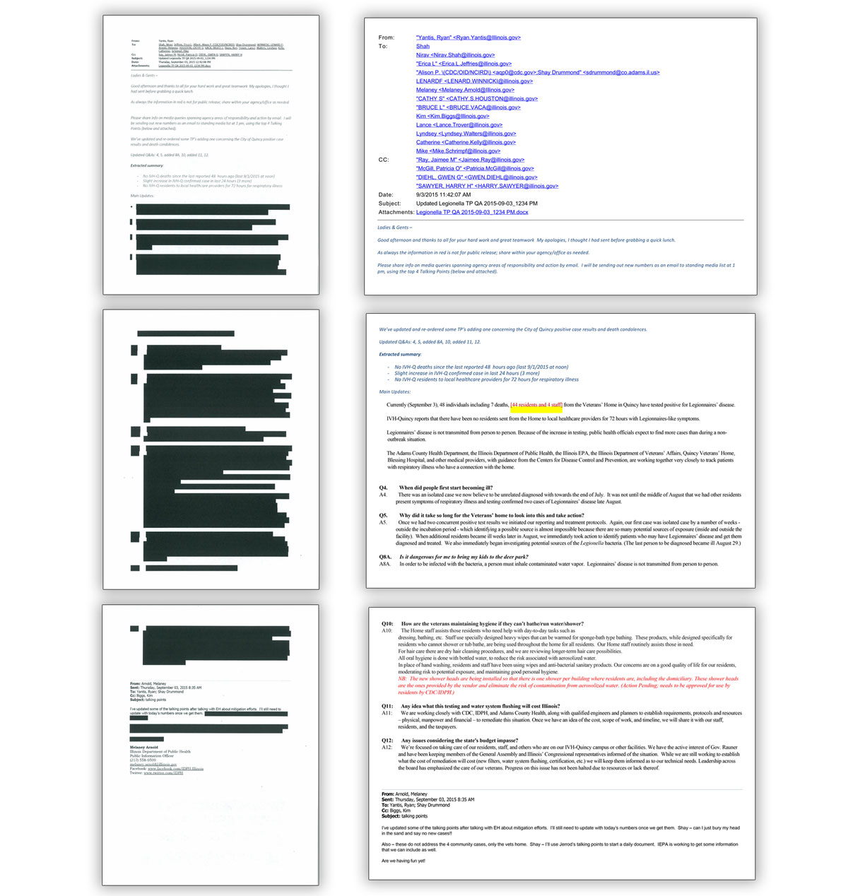 Sample of redactions