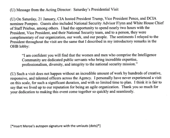 Letter from the acting director