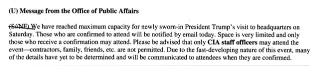 Letter regarding maximum capacity