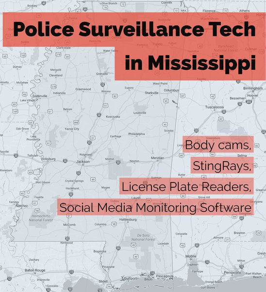 Police Surveillance Tech in Mississippi