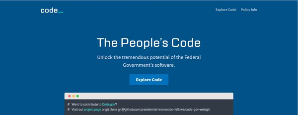 Public Domain Programming: the Source Code of the Government