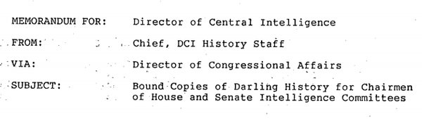 Declassifying CIA's Internal Histories